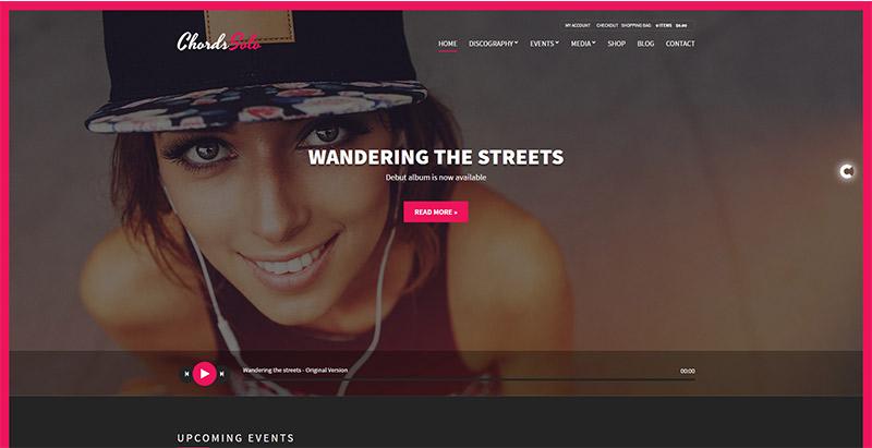 10 WordPress temas para crear la página web de un artista | BlogPasCher