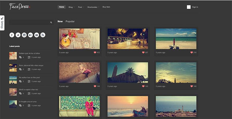 Facepress Themes Wordpress Creer Site Internet Partage Contenu