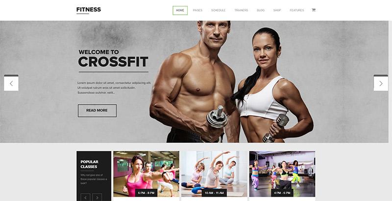 10 temas de WordPress para club deportivo de sitios web, gimnasio ...