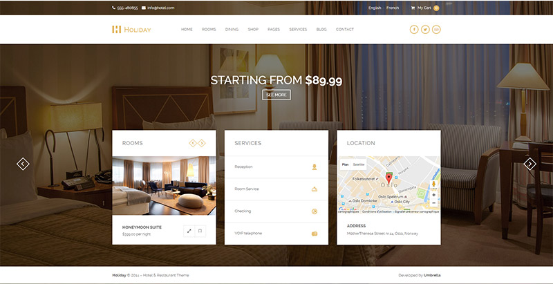 10 th mes wordpress pour cr er le site web d 39 un h tel for Site web pour hotel