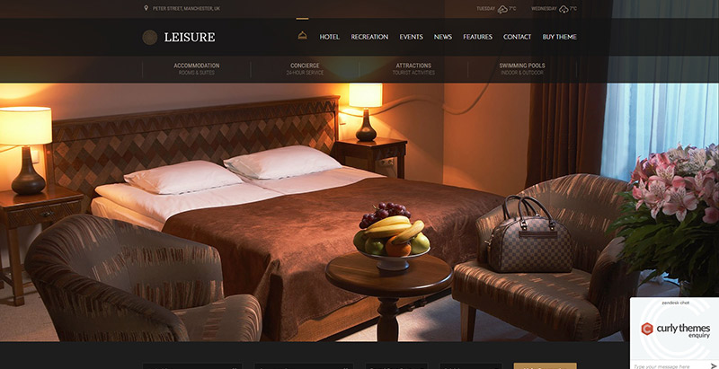10 th mes wordpress pour cr er le site web d 39 un h tel for Site pour reserver un hotel