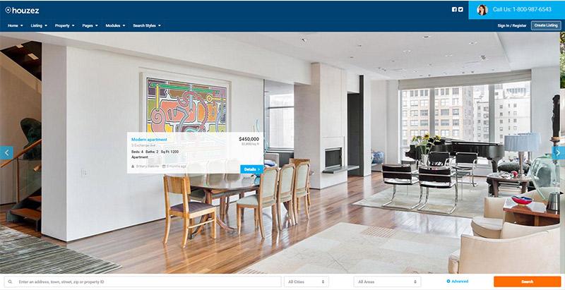 houzez-themes-wordpress-creer-site-web-louer-vendre-maisons-villa-appartement