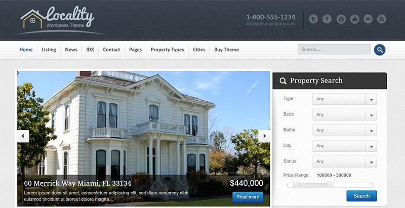 10 temas de WordPress para ventas sitio web o casas de alquiler ...