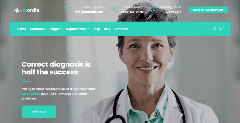 Medlab theme wordpress clinique