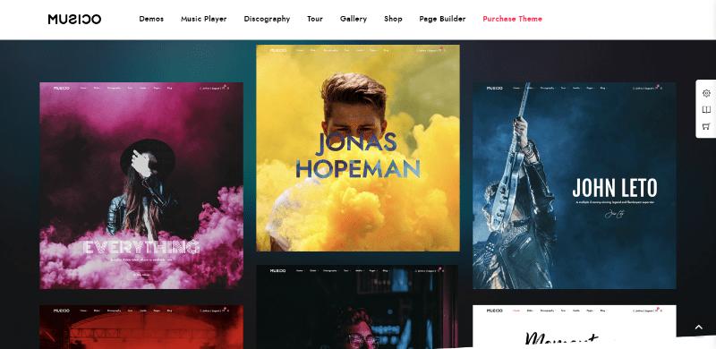 Musico themes wordpress create musics website