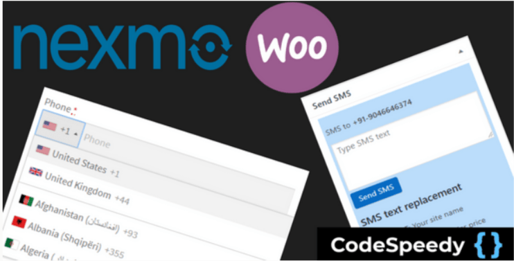 Nexmo woocommerce sms alert plugin by codespeedy