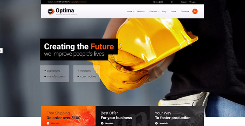 optima-10-tema-wordpress-membuat-web-site--usaha industri