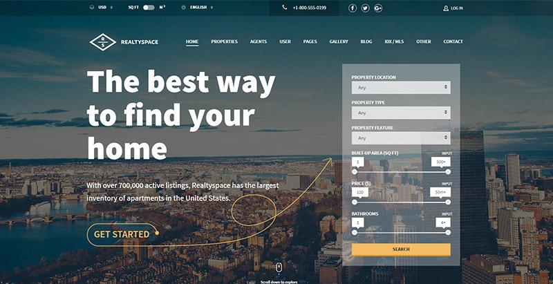 realtyspace-themes-wordpress-creer-site-web-louer-vendre-maisons-villa-appartement