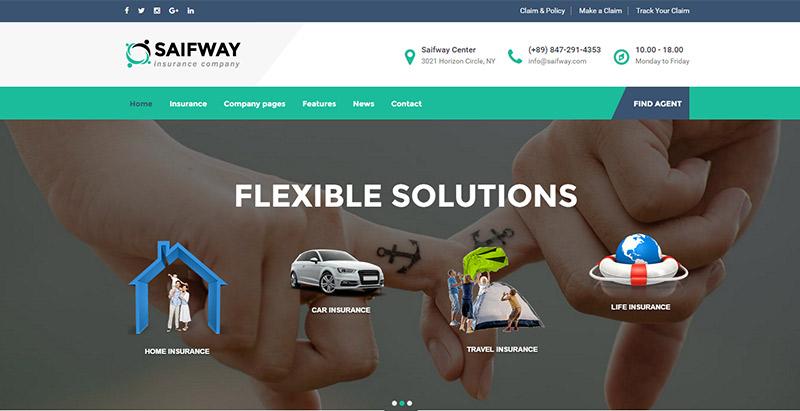 Temas de 10 WordPress para crear un sitio web de negocios de seguros ...