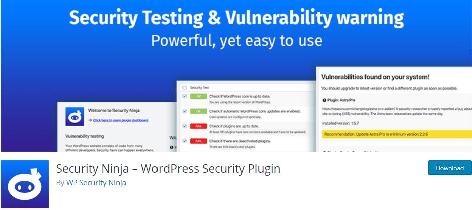 protéger votre blog - Security ninja plugin blogpascher