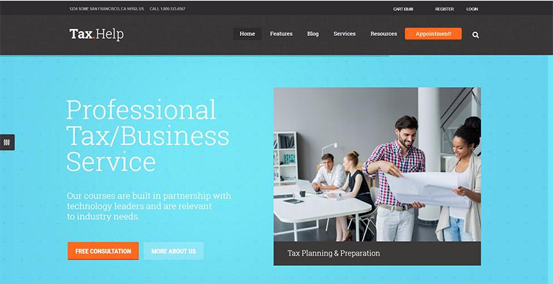 10 Temas de WordPress para crear un sitio Web de contabilidad ...
