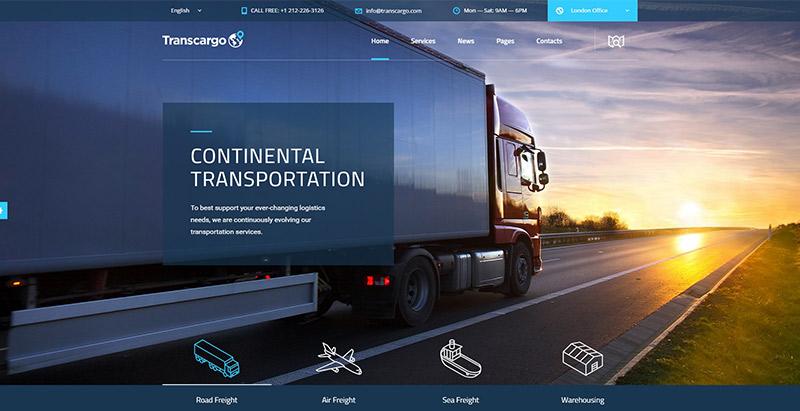 transcargo-themes-wordpress-creer-site-internet-entreprise-logistique-transport