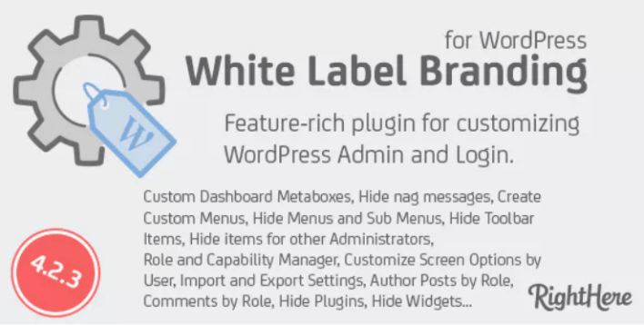 White Label Branding for WordPress plugin WordPress