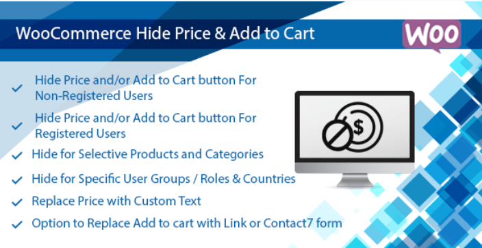 Woocommerce hide price add to cart button plugin hide by user roles