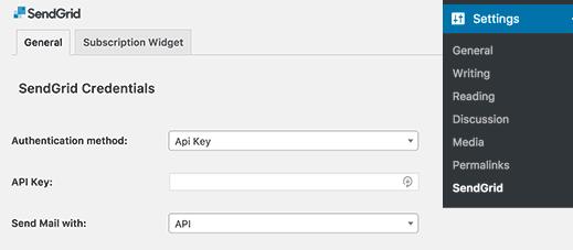 configuration-sendgrid