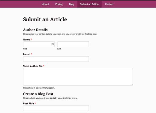 formulaire-de-soumission-des-articles-en-action-wordpress-wpforms
