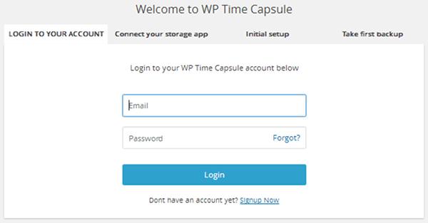page-de-connexion-wp-time-capsule