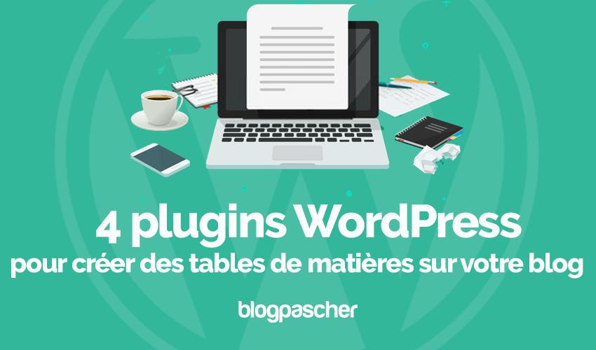Plugins Wordpress Creer Tables De Matieres Blog