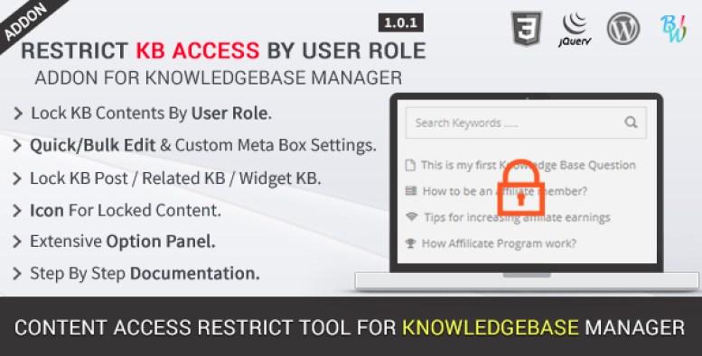 restrict-kb-access-by-user-role-addon-plugin-wordpress-pour-roles-utilisateur