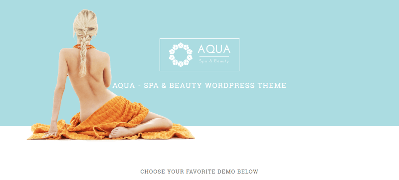 Aqua Themen WordPress erstellen Website Internet Spa Salon Schönheitsmassage