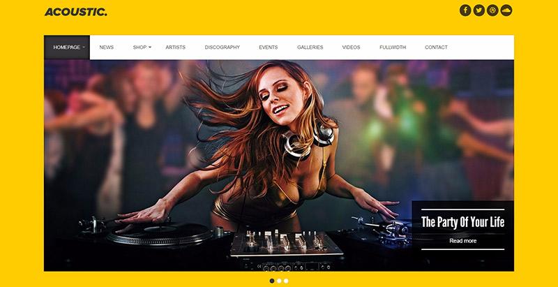 10 Temas de WordPress para crear un sitio web de música | BlogPasCher