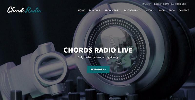Chords themes wordpress creer site web artiste musicien