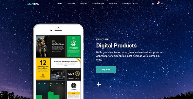 Dgwork themes wordpress vendre produits services numeriques ebook