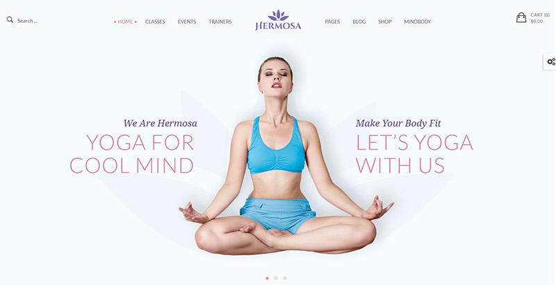 Hermosa themes wordpress creer site web club sports fitness gymnase