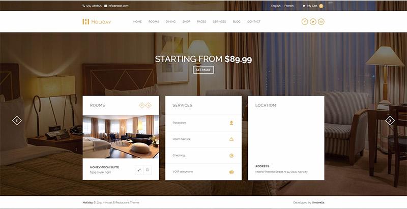10 Temas de WordPress para crear un sitio web del hotel   BlogPasCher