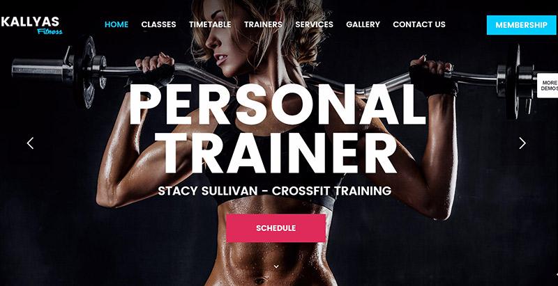 Kallyas themes wordpress creer site web club sports fitness gymnase