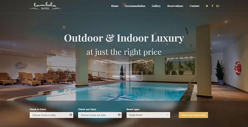 Lambda themes wordpress creer site web hotel motel