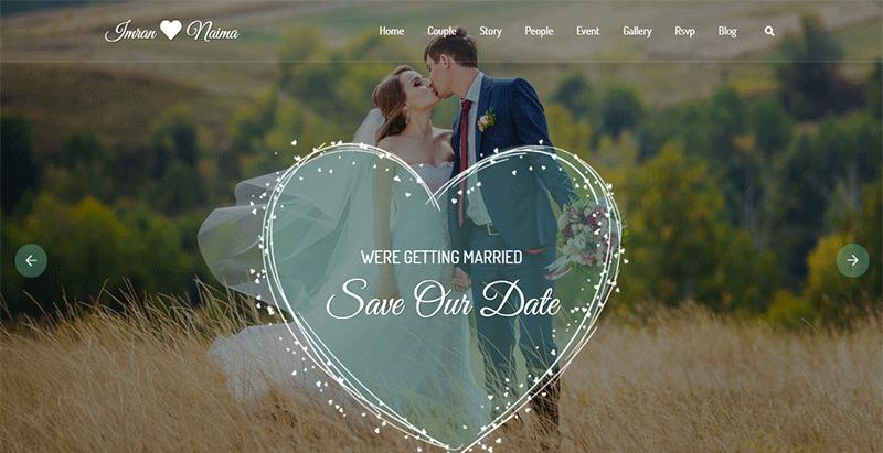 thèmes WordPress pour créer un site internet de mariage - Lavelo Marriage