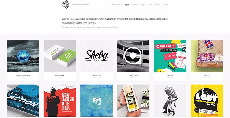 10 WordPress temas para crear un sitio web de artistas | BlogPasCher