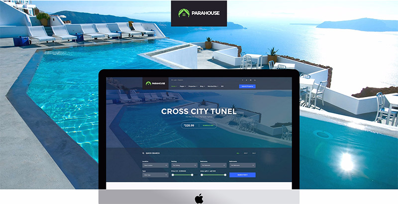 Parahouse themes wordpress creer site web vente maisons