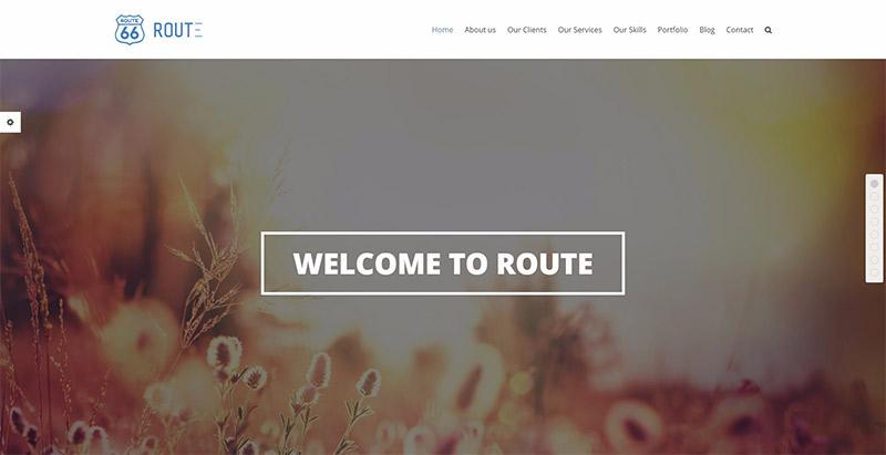 Route SEO-optimierte WordPress-Themen