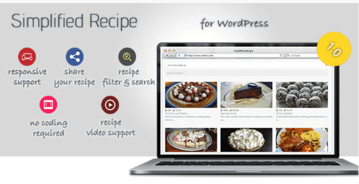 Simplified recipe for wordpress