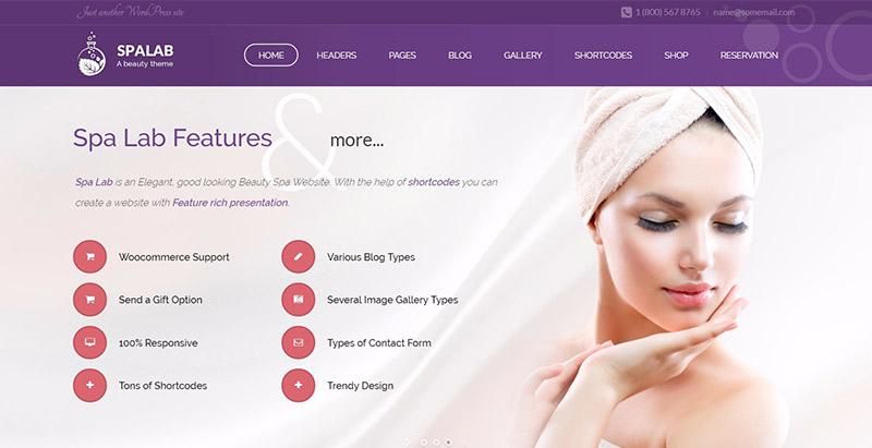Spa lab themes wordpress creer site web spa