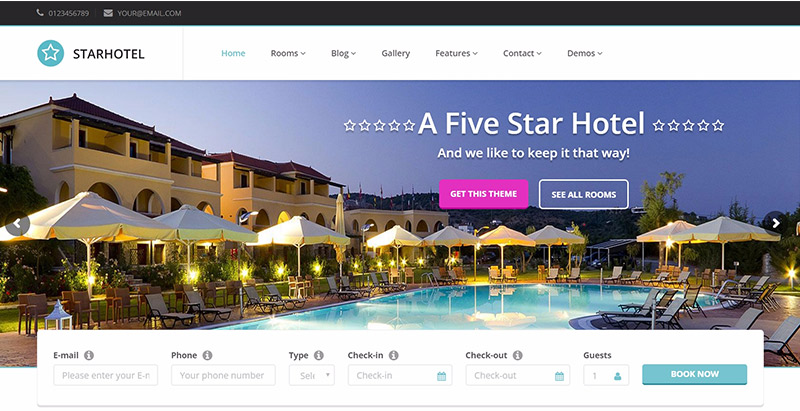 Starhotel themes wordpress creer site web hotel motel
