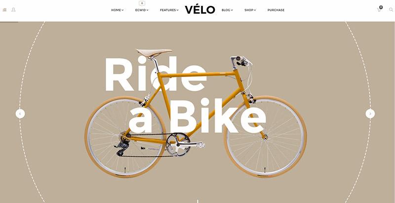 Velo themes wordpress creer site web ecommerce boutique en ligne