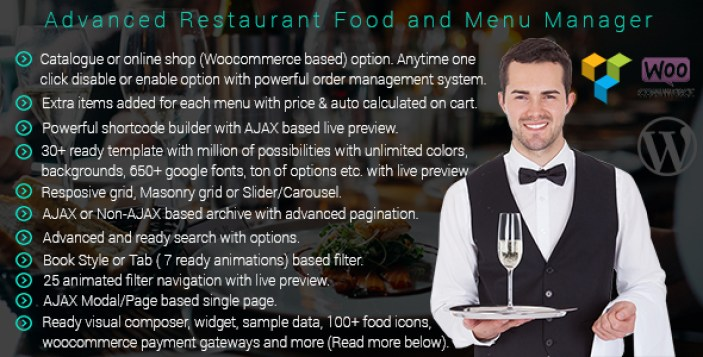 avançada-restaurante-gerente-menu do plugin-wordpress-para-restaurante