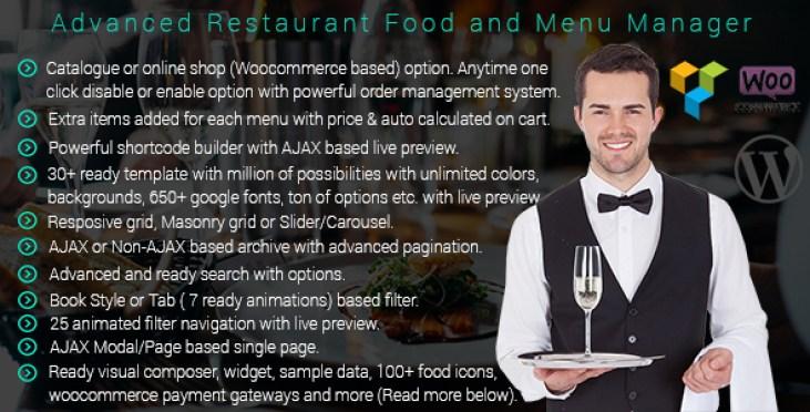 avançada-restaurante-gerente-menu do plugin-wordpress-para-restaurante