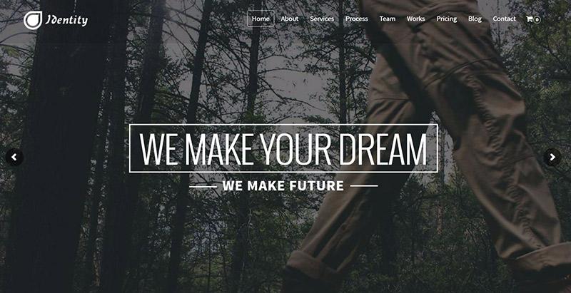 Identity themes wordpress creer site web avocat