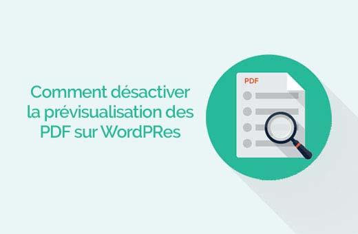 Miniature des pdf désactivation