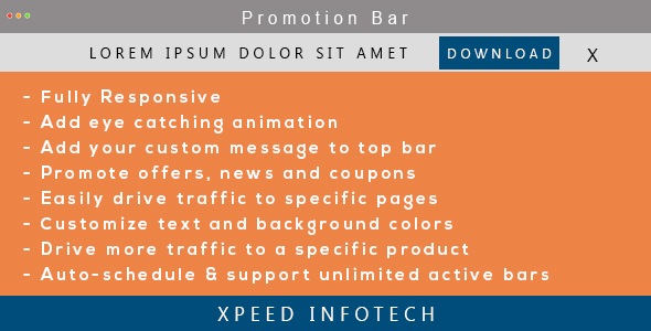 Promotion bar magento 2 xpeed plugin magento pour partage social