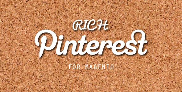 Rich pinterest plugin magento pour partage social