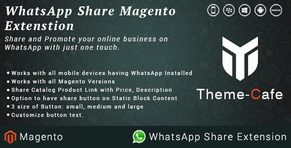 Whatsapp share plugin magento pour partage social
