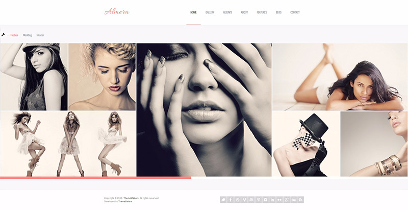 Almera themes wordpress creer site web photographes photographie agence studio