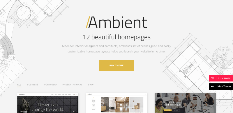 Ambient themes wordpress creer site web agence deco interieure