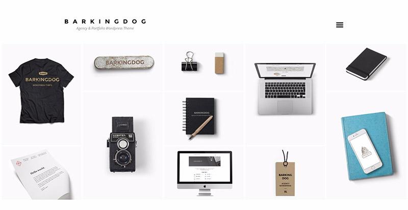 Barkingdog themes wordpress creer site web portfolio mode