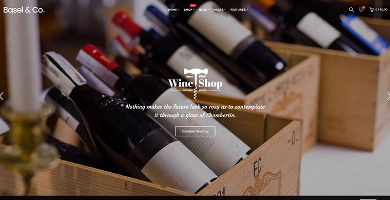 Basel Themes Wordpress Creer Site Web Vente Vin Viticulture